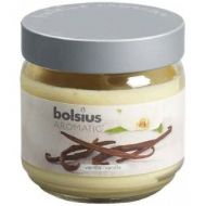 Bolsius Filled Glass Candle With Scent And Lid - Vanilla - Large